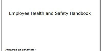 Employee Safety Manual Template