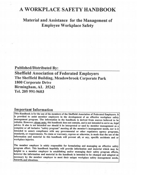 Employee Safety Manual Template PDF