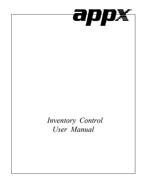 inventory control manual template