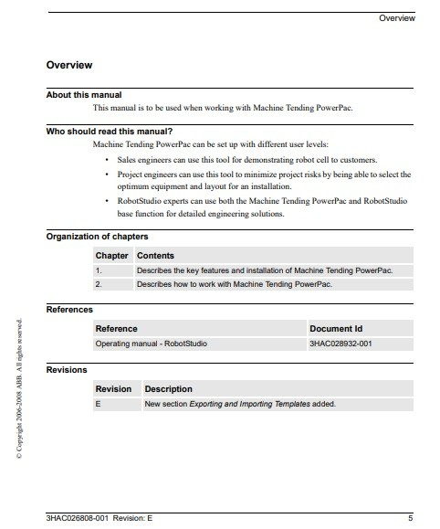 machine manual template PDF